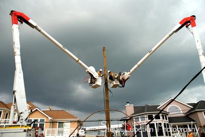 Alabama Power utility crews working to restore New Jersey power on Long Beach Island